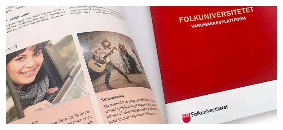 Folkuniversitetets varumärkesplattform